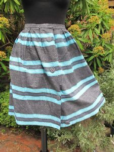 1960's Cotton gaberdine striped St Michael (M & S) skirt.
